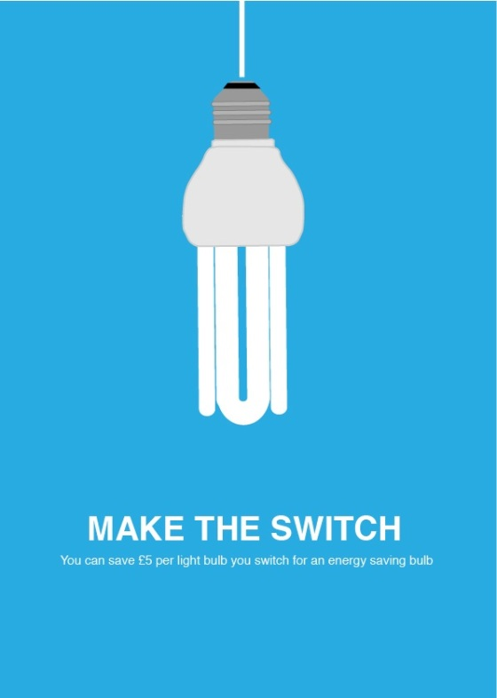 energy bulb 4 poster idea  blue