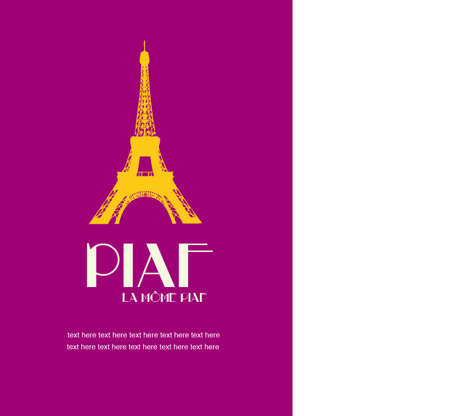 2 colour poster design - Tagged Advertisment Art Design Graphic Piaf Play Poster