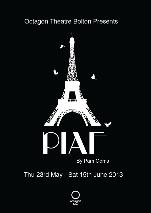 Tagged advertisement art gems graphic graphic design pam photography piaf play poster theatre