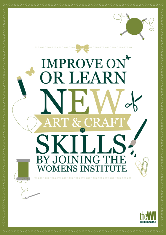 arts & crafts poster green