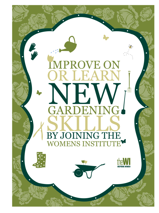 gardening poster clipped green
